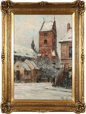 Władysław Chmieliński (pseud. Stachowicz) (1911-1979), Widok z Rynku Nowego Miasta na kościół N.M.P.