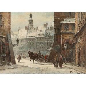 Władysław Chmieliński (pseud. Stachowicz) (1911-1979), Widok na Rynek Starego Miasta od strony ul. Nowomiejskiej