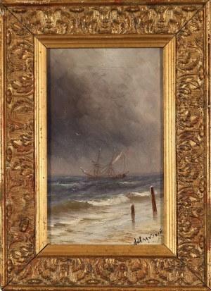Iwan K. Ajwazowski (1817-1900) ?, Żaglowiec w czasie burzy