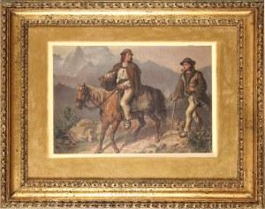 Wojciech Gerson (1831-1901), Spotkanie w górach, 1869