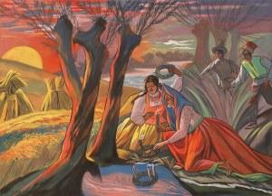 Zofia Stryjeńska (1894-1976), Sobótka - puszczanie wianków, 3 ćw. XX w.