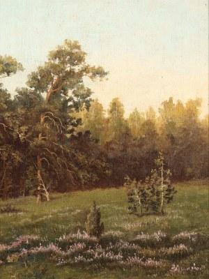 Wiktor Korecki (1890-1980), Leśna łąka z wrzosami, 1 poł. XX w.