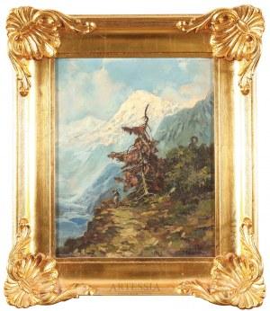 Autor nierozpoznany (1 poł. XX w.), Przez góry Kaukazu, 1924