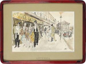 Antoni Uniechowski (1903-1976), Widok paryskiej ulicy Royale