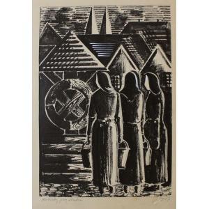Adam Jabłoński (1922-1973), Kobiety przy studni (1957)