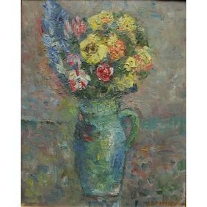 Ludwik Konarzewski (1919-1989), Kwiaty w wazonie