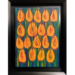 Edward Dwurnik, Żółte tulipany XXIII-1253-6982, 2017