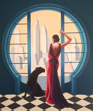 Anna Konikowska, Okno na Manhattan, 2021