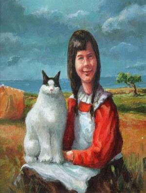 Robert Konrad, Dziewczynka z kotem, 2021