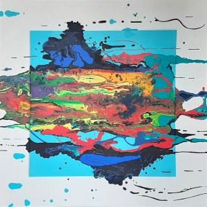 Urszula Kozieł, Niebieska kompozycja cyklu Ekspresje, 2021