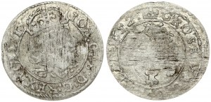 Lithuania 1 Grosz 1652 Vilnius. John II Casimir Vasa (1649-1668) Obverse: Crowned bust of Johann Casimir right. Reverse...