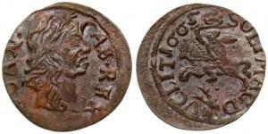 Lithuania 1 Solidus 1665 Kaunas. John II Casimir Vasa (1649–1668). Obverse: Laureate head of Johann Casimir right...