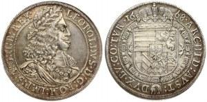 Austria 1 Thaler 1668 Hall. Leopold I (1657-1705). Obverse: Portrait right lion head on shoulder. Lettering: LEOPOLDVS ...