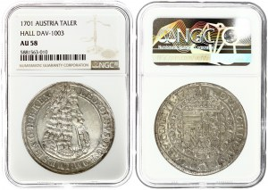 Austria 1 Thaler 1701 Hall. Leopold I (1657-1705). Obverse: Laureate portrait with armour right...