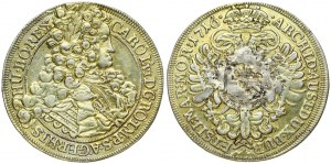 Austria Bohemia 1/2 Thaler 1716 Charles VI(1711-1740). Obverse: Laureate armored bust with long wig right. Reverse...