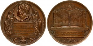 France Medal 1844 LOUIS-PHILIPPE d'inauguration de la bibliotheque Ste Genevieve. Bronze. Weight approx: Diameter: 68...