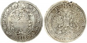 Germany Ulm 1 Thaler 1620 Ferdinand II(1590-1637). Obverse: Large city arms. Reverse: Crowned double...