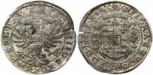 Germany Jever  28 Stuber (ca. 1640). Anton Günther (1603-1667). Obverse: Crowned 4...