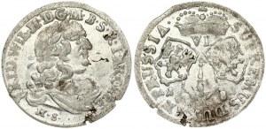 Germany BRANDENBURG 6 Groschen 1681 HS Friedrich Wilhelm (1640-1688). Obverse: Friedrich Wilhelm bust right. Lettering...