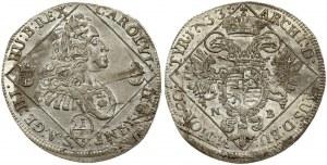 Hungary 1/4 Thaler 1733 NB Karl VI(1711-1740). Obverse: Bust right within rhombus. Obverse Legend...