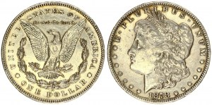 USA 1 Dollar 1878 S 'Morgan Dollar' San Francisco. Obverse: Liberty head; facing left. Lettering...