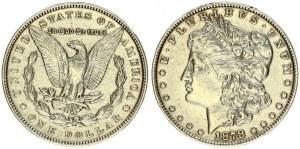 USA 1 Dollar 1878 'Morgan Dollar' Philadelphia. Obverse: Liberty head; facing left. Lettering: E·PLURIBUS·UNUM LIBERTY...