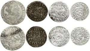 Poland 1/24 Thaler 1623 & 6 Groszy 1626 & Latvia 3 Groszy 1595 & 1598 Riga. Sigismund III Vasa(1587-1632)...
