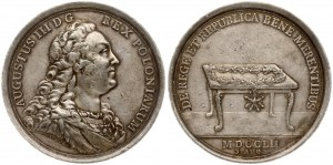 Poland Medal (1752) minted on the occasion of the Order of the White Eagle. August III (1733-1763). Signed Wermuth...