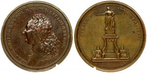 Poland Medal given by the city to Nancy to Stanisław Leszczyński and Ludwik XV on the occasion of the erection of the mo