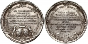 Poland Medal (1772) minted on the Occasion of the death of Maria Amalia Mniszech. Stanislaus Augustus (1764-1795)...