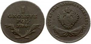 Poland 1 Grosz 1794 Franz I (1792-1835). Obverse...