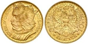 Poland 10 Zlotych 1925 Boleslaw Chrobry. Obverse: Imperial eagle. Lettering: RZECZPOSPOLITA POLSKA 10 ZŁOTYCH 10...