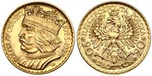 Poland 20 Zlotych 1925 Boleslaw Chrobry. Obverse: Imperial eagle. Lettering: RZECZPOSPOLITA POLSKA 20 ZŁOTYCH 20...