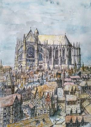 Dawid Masionek (ur. 1994), Jesień gotyku – katedra w Beauvais, 2021