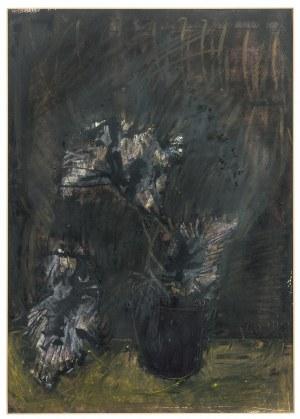 Jacek Sienicki (1928 Warszawa - 2000 tamże), Kwiat w doniczce, 1999 r.