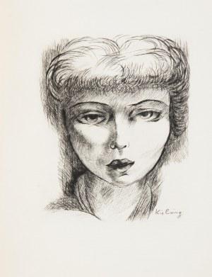 Mojżesz Kisling (1891 Kraków - 1953 Sanary-sur-Mer), Portret kobiety, 1948
