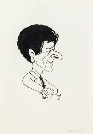 Jerzy Flisak (1930 Warszawa - 2008 tamże), Karykatura Jerzego Kosińskiego