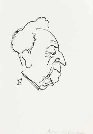 Jerzy Flisak (1930 Warszawa - 2008 tamże), Karykatura Artura Rubinsteina