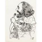 Jerzy Flisak (1930 Warszawa - 2008 tamże), Karykatura Denisa Roussosa