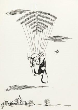 Jerzy Flisak (1930 Warszawa - 2008 tamże), Mikołaj, ilustracja do Szpilek
