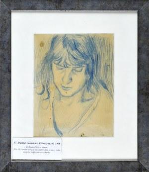 Stanisław KAMOCKI (1875-1944), Studium portretowe dziewczyny, ok. 1900