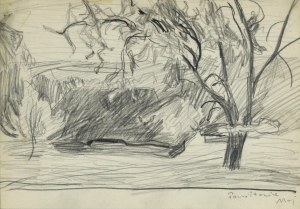 Stanisław KAMOCKI (1875-1944), Paczółtowice - widok na wieś, ok. 1908