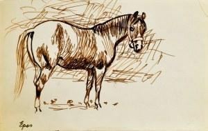 Ludwik MACIĄG (1920-2007), Szkic konia - Epos brązowy i czarny