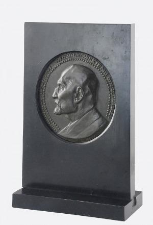Konstanty LASZCZKA (1865-1956), Leon Wyczółkowski - medalion - plakieta reliefowa, 1921