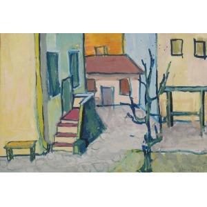 Jerzy JANISCH ? (1901-1962), Podwórko