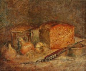 Stanisław APPENZELLER (1901-1980), Martwa natura z chlebem