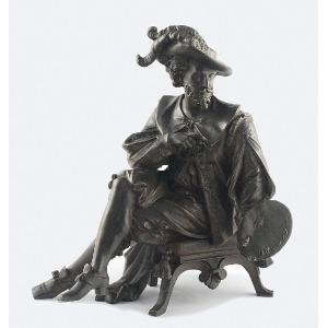 Figura malarza w barokowym kostiumie (Peter Paul Rubens?)
