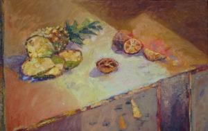 Beata Sękiewicz-Gaudy, Stół z ananasem i pomarańczami