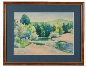 Roman BILIŃSKI (1897-1981), Pejzaż z rzeką z Ömerli, 1934