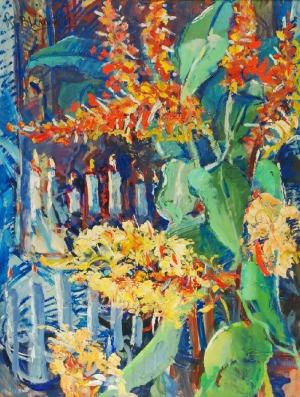 Roman BILIŃSKI (1897-1981), Kwiaty [Composizione di fiori], 1960